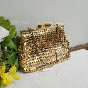 Cute golden clutch bag